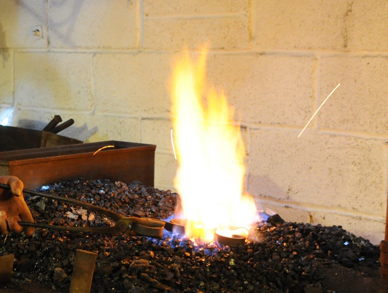 Bradley the blacksmith - Flame Coal furnace