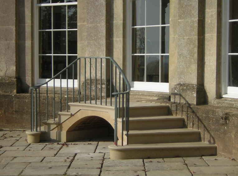 Stair balustrade crafted to replicate originals at an estate in Somerset.